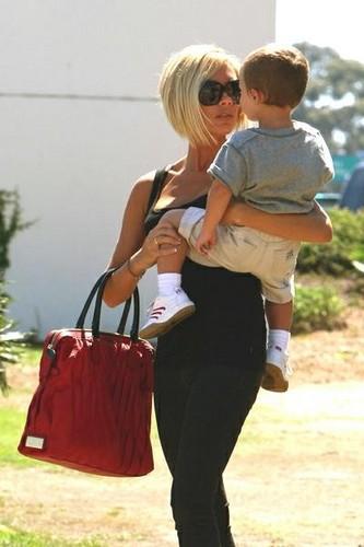 Victoria and her son Cruz