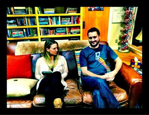 Wil Wheaton and Kaley