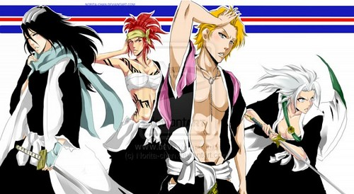 anime bleach wallpaper possibly with anime called Women Soul Reapers?
