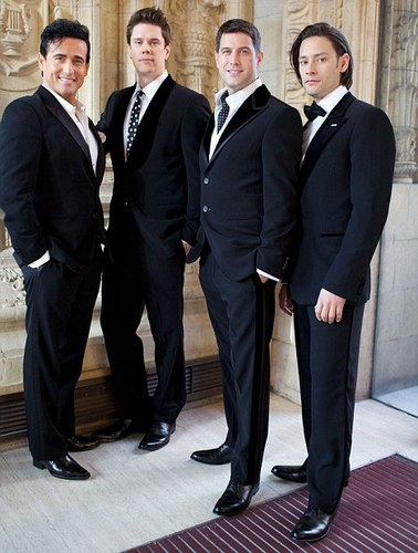 Worldwide appeal: Sébastien, saat right, with his Il Divo bandmates