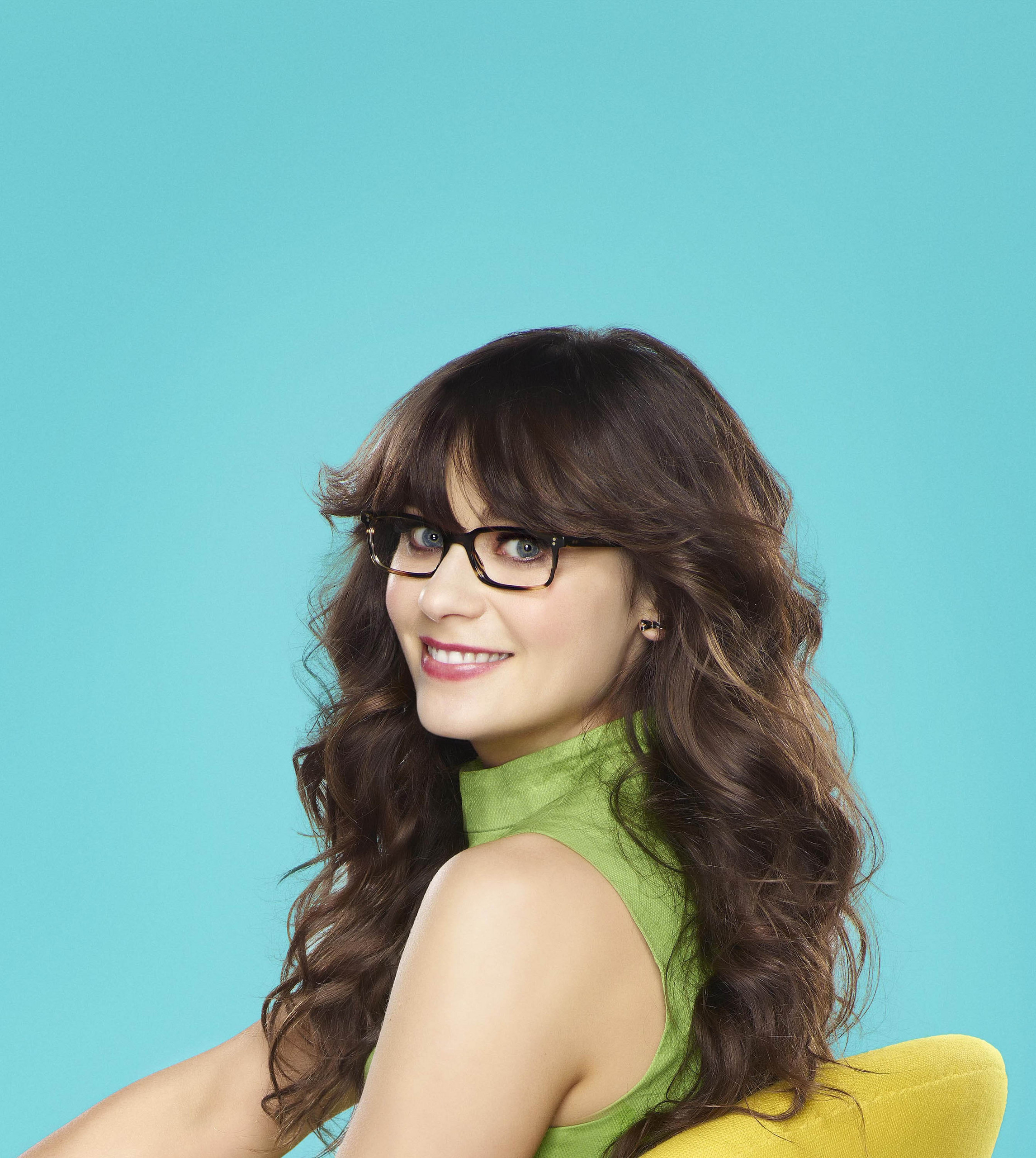 deschanel images zooey in the new girl hd wallpaper and