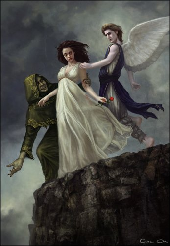 devil and ángel