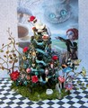 dollhouse miniature alice in wonderland-themed tree I made - alice-in-wonderland-2010 fan art
