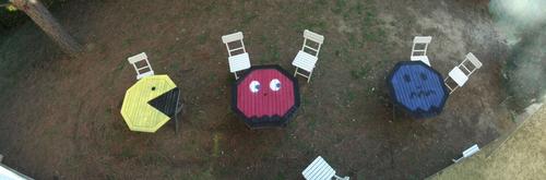 garden table, tableau