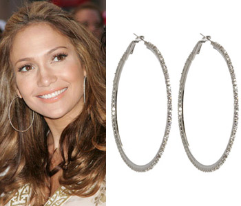 Jennifer Lopez wallpaper containing a portrait titled jlo earrings