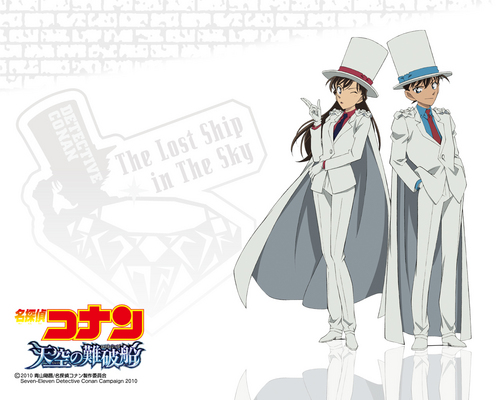 shinichi x ran wallpaper possibly with anime called shinichi , ran