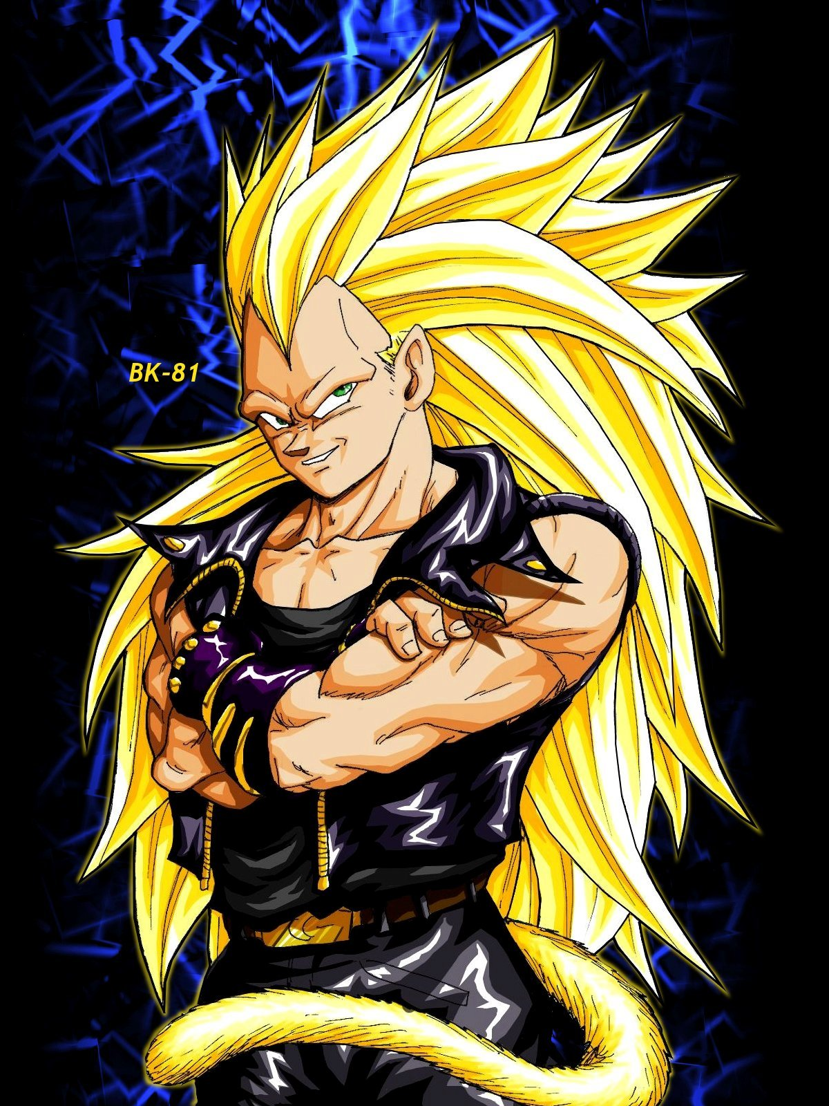Dragon Ball Z super saiyan biker
