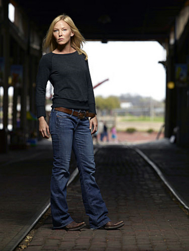 Kelli Giddish wallpaper containing a jean, a street, and a carriageway called 'Chase' Photoshoot