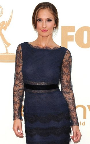 Minka Kelly wallpaper probably with a camicetta and a cocktail dress titled Minka Kelly at the 63rd Primetime Emmy Awards (September 18).