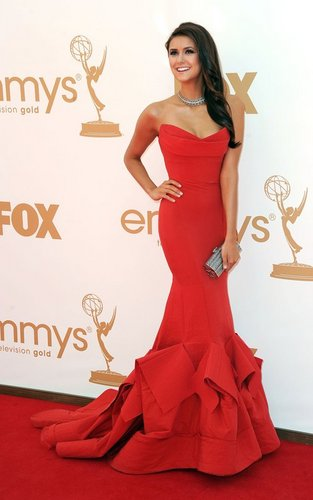 Nina Dobrev at the 63rd Primetime Emmy Awards (September 18).