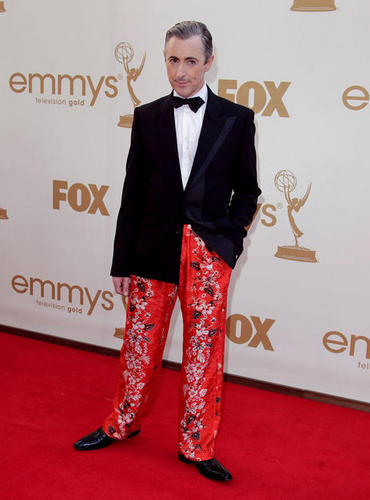 Alan Cumming arriving at the Emmys.
