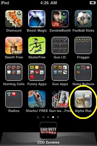 Alpha Run app