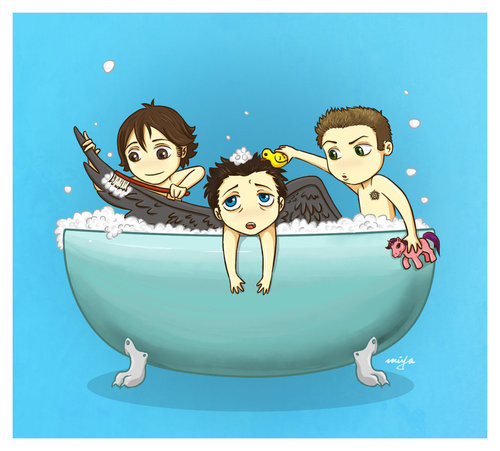 Ангелы Dont Like To Take a Bath <33