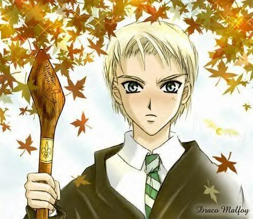 Harry Potter Anime wallpaper entitled Anime Draco Malfoy