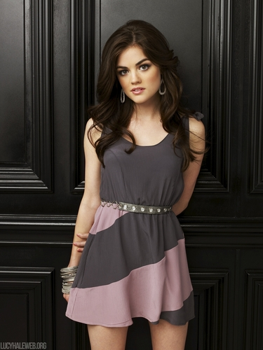 Aria Montgomery वॉलपेपर possibly containing a कॉकटेल dress, a skirt, and a gathered स्कर्ट titled Aria Season 1 HQ Promos