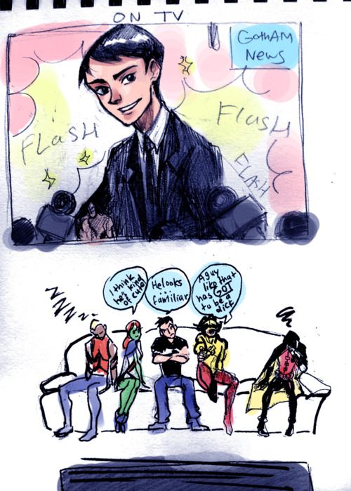 Young Justice Awkward moment for Robin....