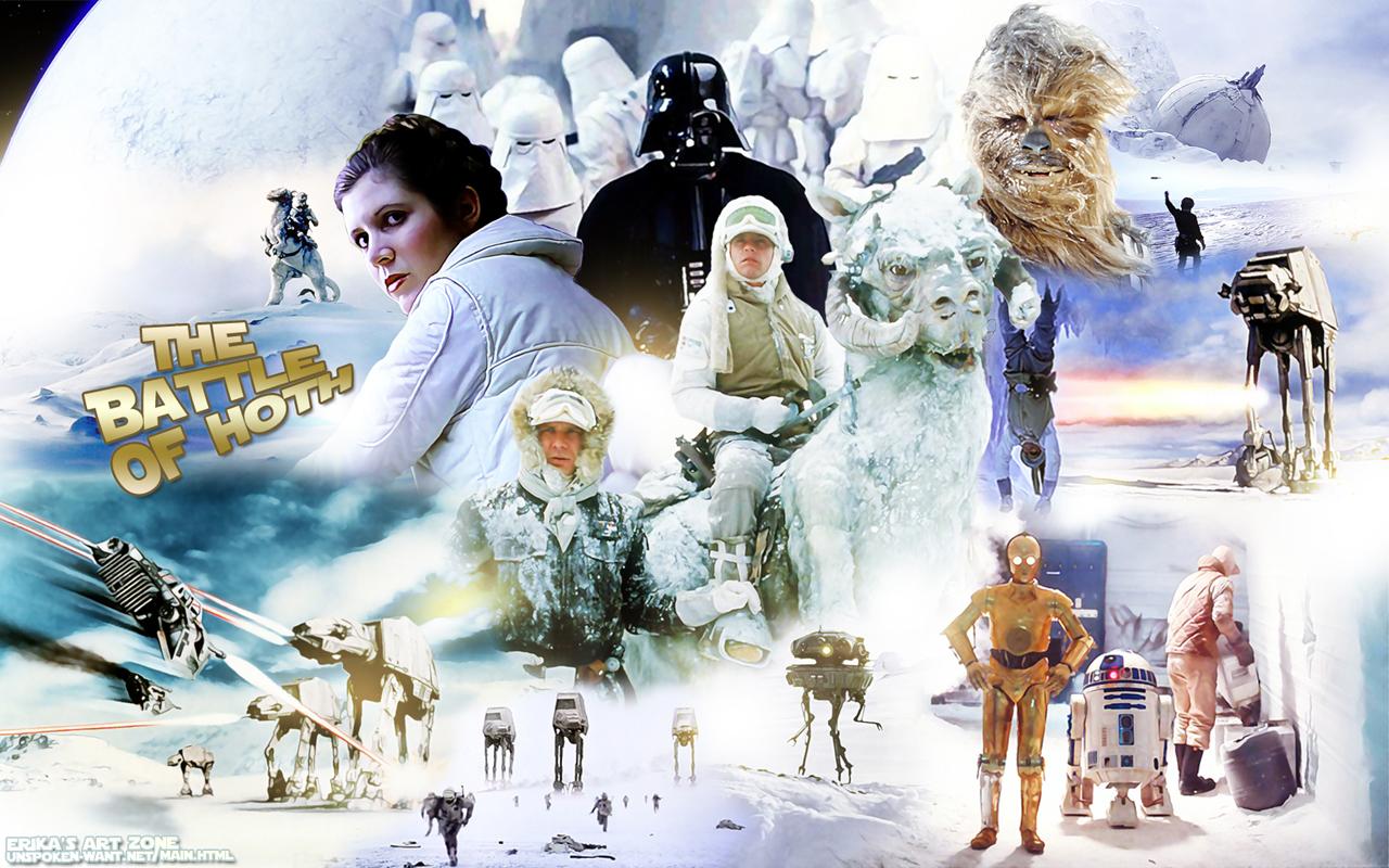 Hoth Battle Wallpaper Luke Skywalker Battle of Hoth