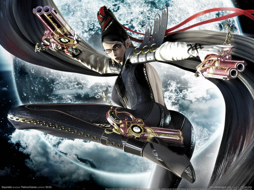 video game hình nền entitled Bayonetta