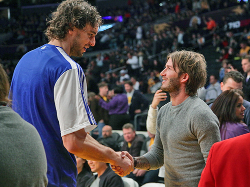 Beckham and Gasol
