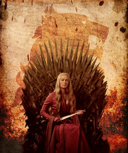 Game of Thrones wallpaper containing a throne entitled Cersei Lannister