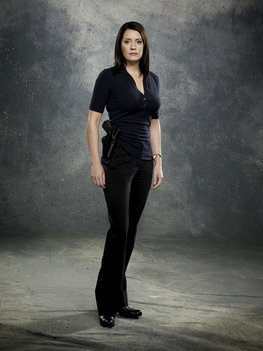 Paget Brewster wallpaper containing a business suit and a well dressed person titled Criminal Minds 7: Promotional Photos