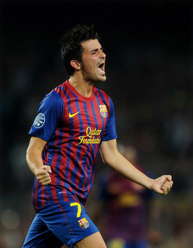 D. Villa (Barcelona - AC Milan) - david-villa Photo