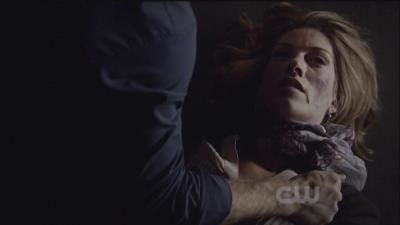 Damon witha dead Andie after Stefan compels her to jump!