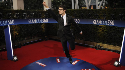 Darren Criss Flying for the Emmys GlamCam