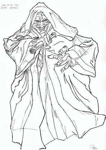Darth Sidious tagahanga art