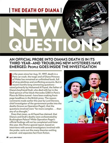 Diana's death-people magazine
