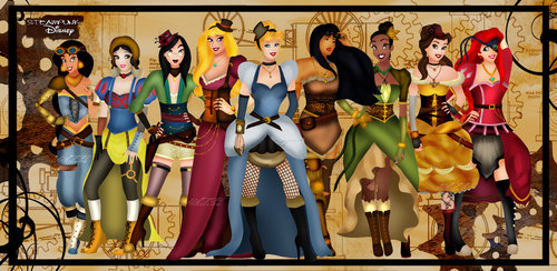 Disney Steampunk Princesses
