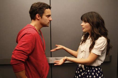 New Girl achtergrond possibly with an outerwear, a playsuit, and a well dressed person titled Episode 1.04 - Naked - Promotional foto's