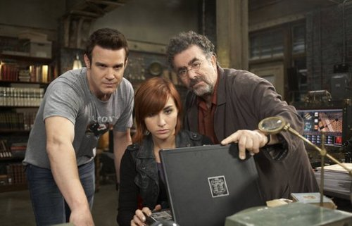 Warehouse 13 wallpaper possibly with a laptop called Episode 3.12 - Stand - Promotional Photos