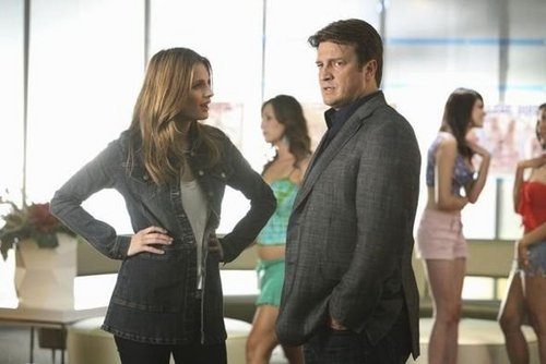 Castle wallpaper probably containing a well dressed person, an outerwear, and a hip boot entitled Episode 4.03 - Head Case - Promotional Photos