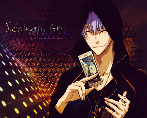 Ichimaru gin wallpaper probably with a business suit and a sign titled gin