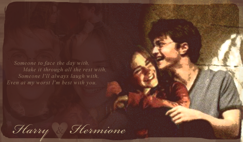 harry y hermione fondo de pantalla probably containing anime called Harmony :)