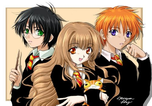 Harry Potter Anime wallpaper possibly containing anime called Harry Potter
