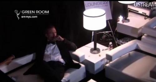 Hugh Laurie Backstage at the Emmys Awards 2011