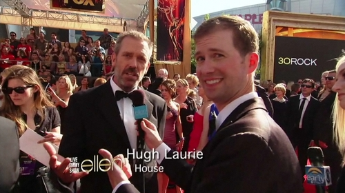Hugh Laurie-The Red Carpete- Emmy Awards 2011