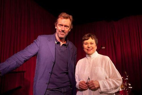 Hugh Laurie and Martha Teichner -CBS News Sunday Morning set 2011