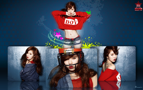 HyunA Kim wallpaper possibly containing a street and a sign titled HyunA Wallpaper