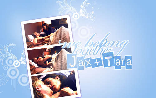 Sons Of Anarchy wallpaper probably with a sign titled Jax & Tara♥
