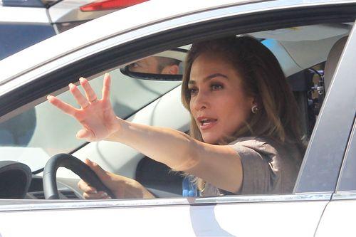 Jennifer Lopez films a scene for 'Parker' in Fort Lauderdale