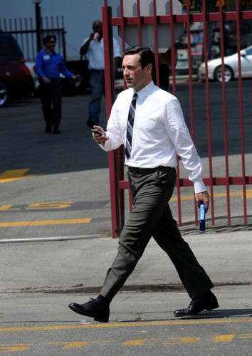 "Jon Hamm on Set of ""Mad Men"""
