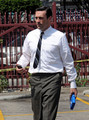 Jon Hamm on Set of