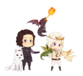 Jon and Daenerys (Very Cute) - jon-and-daenerys fan art