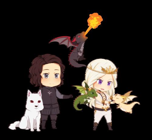 Jon and Daenerys (Very Cute)