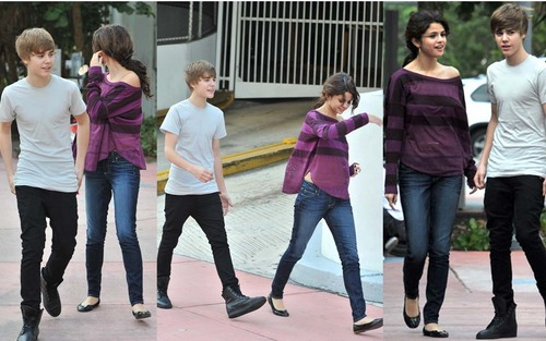 Justin Bieber et Selena Gomez fond d'écran possibly with a business suit, a carriageway, and a rue titled Justin and Selena