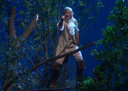 "Keith as ""The Highwayman"" in Storm"