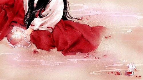Inuyasha.:The Final Act:. Hintergrund with a bouquet and a rose titled Kikyou and InuYasha